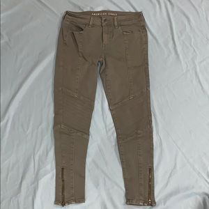 american eagle jeans with zipper